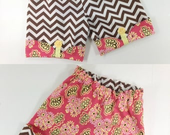 PDF Sewing Pattern for reversible Scalloped Shorts sizes 12m through 16 girls Instant