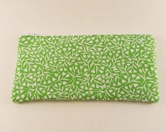 Green Vine Zipper Wallet