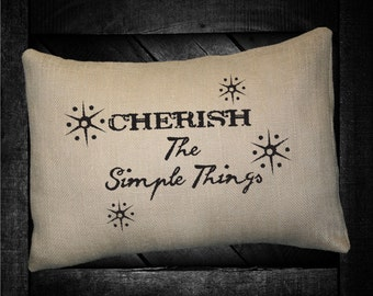 "Cherish The Simple Things  12""x16"" Pillow Set"