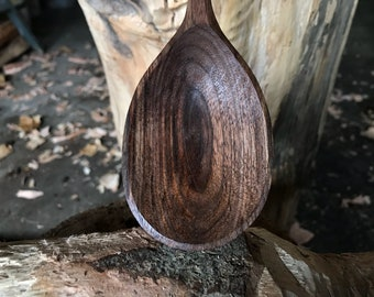 """12"""" cooking spoon, wooden spoon, serving spoon, hand carved wooden spoon"""