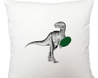 Cushions/ cushion cover/ scatter cushions/ throw cushions/ white cushion/ dinosaur with watermelon cushion cover
