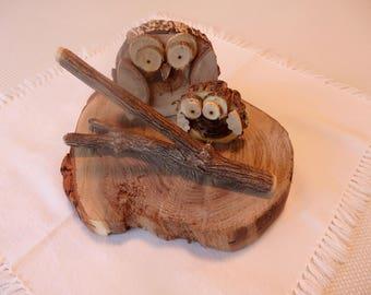 Wooden Owl Art Decor