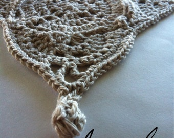 UK Terms Iseult Table Runner, Placemat or Bedspread  PDF Crochet Pattern