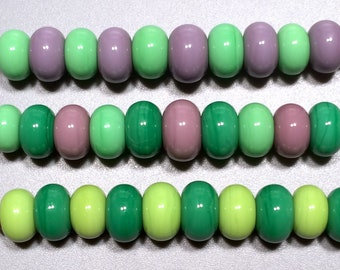 30 Pastels Spacer Pairs - Handmade Lampwork Glass Beads SRA