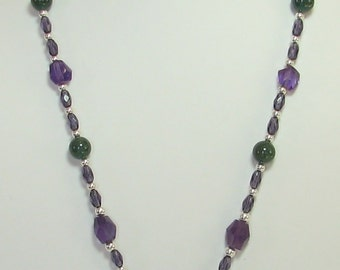 GemPowered Amethyst and Apatite Necklace
