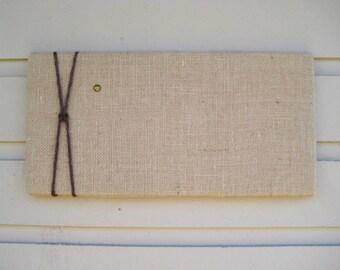 Burlap Bulletin Pin Board with Jute Twine, Message Board in Natural burlap, Photo Memory Board, Natural and modern decor