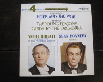 Vintage Record-Prokofiev Peter and the Wolf Narrated by Sean Connery-1966