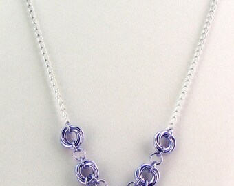 ON SALE Evelyn Chainmaille Necklace Set - Colorfalls Ombre Collection