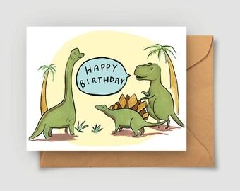 Dino Card - Dinosaur Happy Birthday Card