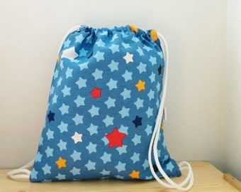 Stars backpack,Baby backpack,children backpack, kids backpack,children bag, baby bag, kawaii bag, school bag,lunch bag,strings backpack