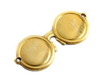 Brass John Lennon - Hippie - Beach Sunglasses Charms (8X) (M718)