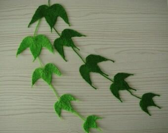 ivy vine leaf,6-8-10-12cm,art,brooch,bookmark,decor of cap/sweater/wall/curtain,knitted,wedding,boho=plain color,green=MaryDengZF