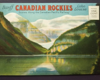 Banff Canadian Rockies Lake Louise Vintage Souvenir Foldout Folder Postcards - Scenes along the Canadian Pacific Railway