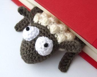 Amigurumi Crochet Sheep Bookmark
