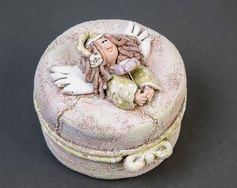 Keepsake box Jewelry box for girl Treasury box Fairy box Tooth fairy box Christmas eve box  Secrets box Memory box Custom jewelry box