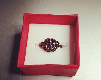 Bohemian swirly copper ring
