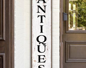 Rustic Antiques Sign Digital Art Printable