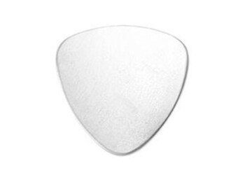 """Guitar Pick Stamping Blanks Silver Aluminum Guitar Pick Blanks 7/8"""" Metal Stamping Blanks Supplies 20 gauge 4 pieces"""