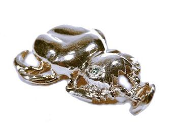 scarab pendant 925 silver