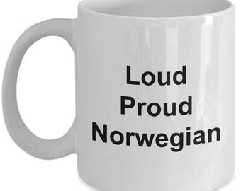 Norwegian Mug - Loud Proud Norwegian - Norway -  Coffee Mug - Unique Gift