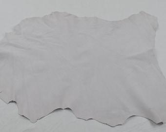 White velvet lambskin leather