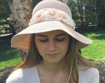 Sun Hat, Beach Hat, Summer Hat, Straw Hat, Ladies Hat, Hats for Women, Gardening hat,  Vacation Hat, Wedding hat