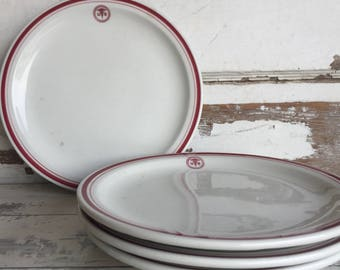 Vintage US Army Medical Restaurant Ware Dinner Plates 4 China