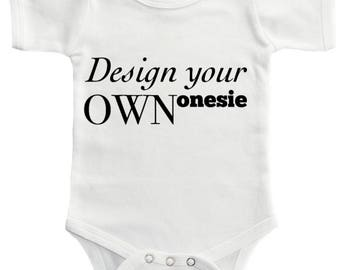 Custom baby onesie • make your own onesie • customizable • design your own • create your baby clothes • onesie • pregnancy announcement