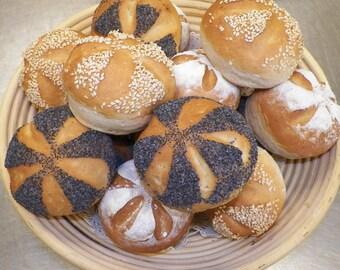 1 Bakers Dozen Original German Broetchen / Hard Rolls