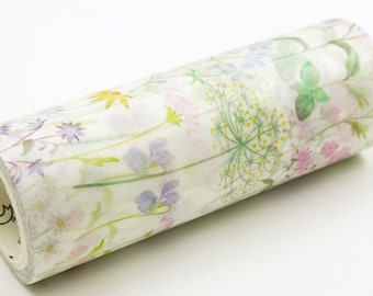 Lavandula - Japanese Washi Masking Tape - 100mm wide - 5.5 yard