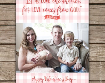 Love Comes from God - Custom Photo Valentine's Greeting Card, digital or printed