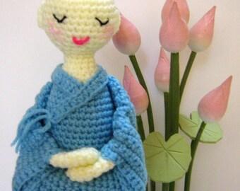 Crochet Amigurumi Pattern Doll Crochet Pattern Nun Meditating Pattern PDF Instant Download A Little Nun in Meditation