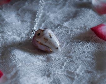 Light Purple Porcelain Owl Necklace