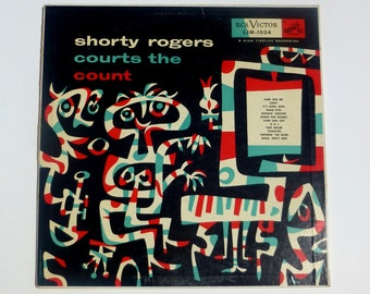 Jim Flora - Art Cover - Shorty Rogers Courts the Count (1954)