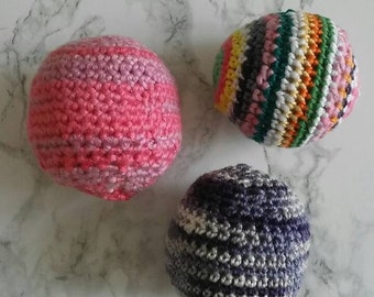 Balls, toy for cats, handmade, cotton, set of 2, 3 or individually