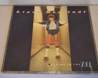 Vintage Gatefold Record Linda Rondstadt: Living in the USA Album 6E-155