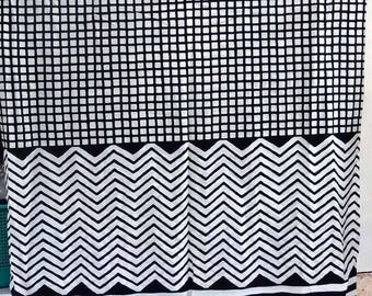 fabric in light cotton, black and white collection, squares and lines