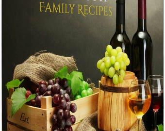 Personalized Vineyard Recipe Binder