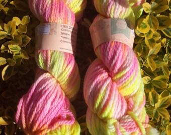 Hand dyed yarn - funshine  - bulky