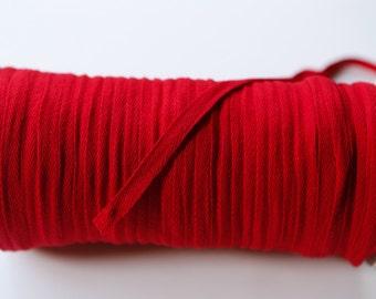 Red 3/8 Inch Cotton Twill Tape 10 yards ATN00502 flat