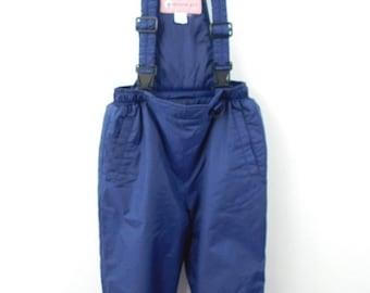30% SPRING SALE Vintage 1990s 90s Blue Puffy Snowboarding Ski Wear Snow Suit Sleeveless One Piece Overall Pants Jumpsuit Sz 8/10 Medium