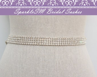 Crystal Bridal Sash, Wedding Sash Belt, Crystal Belt, Rhinestone Belt, Bridesmaids Sash, Rhinestone Sash, Jeweled Bridal Sash, Bridal Belt