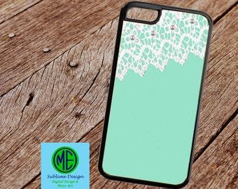 Phone Case. Pearls and Lace Phone Case. Custom Phone Case. Monogram Phone Case.