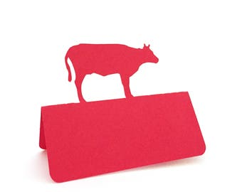 Cow Place Cards Set of 50, Beef, Meal Choice, Wedding place cards, Wedding escort cards