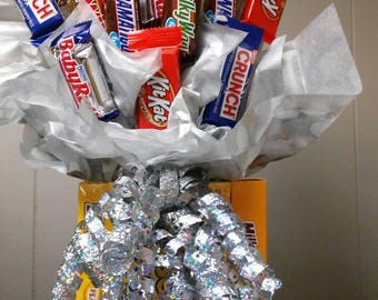 All chocolate candy bouquet
