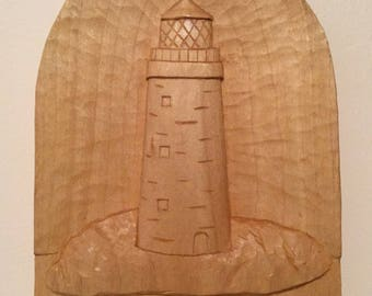 Lighthouse Relief Carving