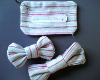 Kids hair clips stripes accessory