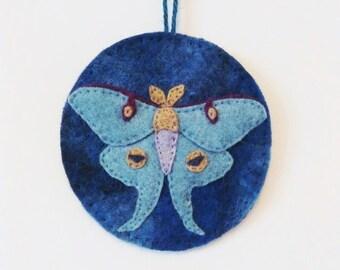 Luna Moth Wool Felt Ornament