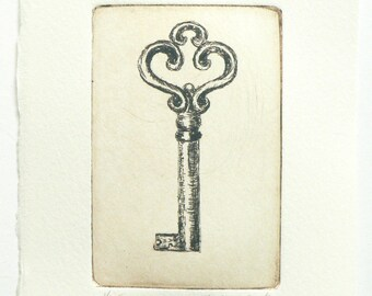 original etching of a key