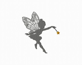 Embroidery for a fairy format 4 x 4 embroidery machine